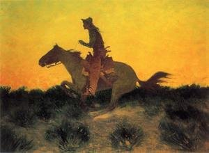 Famous paintings of Wild West: Against The Sunset