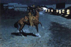 Famous paintings of Wild West: An Arguement With The Town Marshall