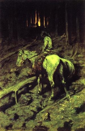 Famous paintings of Wild West: Apache Fire Signal