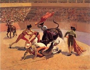 Reproduction oil paintings - Frederic Remington - Bull Fight In Mexico