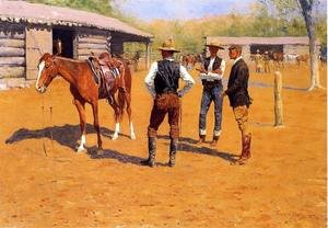 Famous paintings of Horses & Horse Riding: Buying Polo Ponies In The West