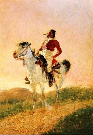 Famous paintings of Horses & Horse Riding: Modern Comanche