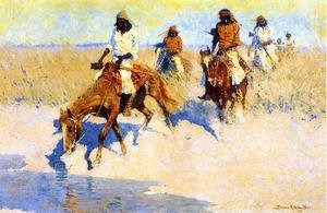 Famous paintings of Horses & Horse Riding: Pool In The Desert