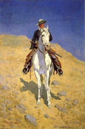 Famous paintings of Wild West: Self Portrait On A Horse