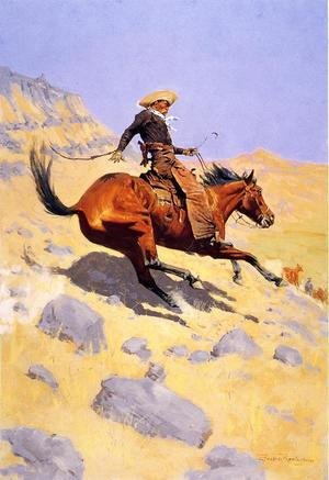 Famous paintings of Wild West: The Cowboy