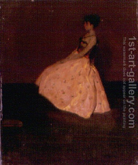 Girl In A Yellow Silk Skirt by Alfred Henry Maurer - Reproduction Oil Painting