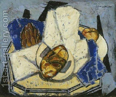 Still Life With Artichoke And Bread by Alfred Henry Maurer - Reproduction Oil Painting