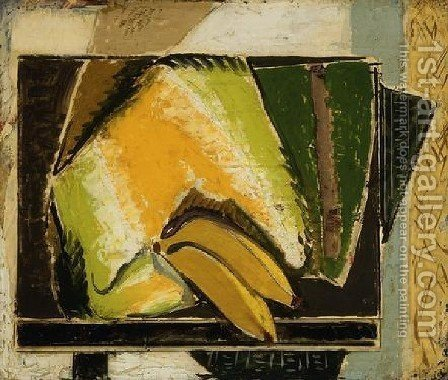 Still Life With Bananas by Alfred Henry Maurer - Reproduction Oil Painting