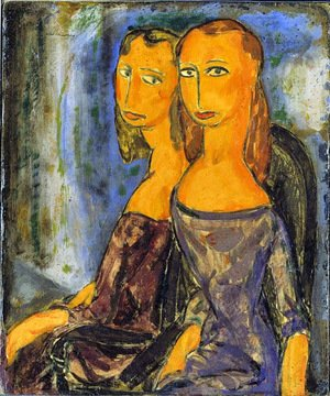 Famous paintings of Figurative: Two Women