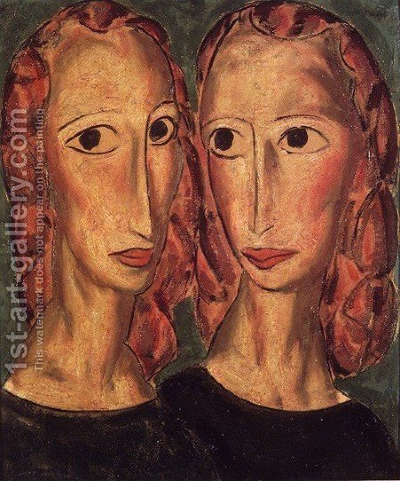 Two Heads Ii by Alfred Henry Maurer - Reproduction Oil Painting
