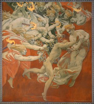 Reproduction oil paintings - Sargent - Orestes Pursued By The Furies