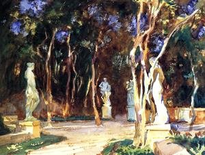 Reproduction oil paintings - Sargent - Shady Paths