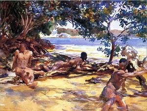 Reproduction oil paintings - Sargent - The Bathers