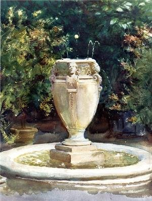 Famous paintings of Fountains: Vase Fountain  Pocantico