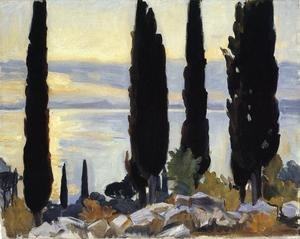 Reproduction oil paintings - Sargent - Cypress Trees At San Vigilio