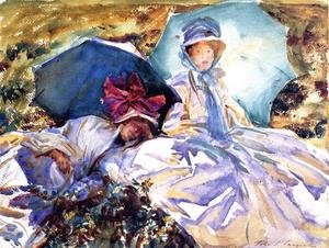 Reproduction oil paintings - Sargent - Simplon Pass  The Green Parasol