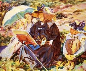 Reproduction oil paintings - Sargent - Simplon Pass  The Lesson