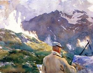 Reproduction oil paintings - Sargent - Artist In The Simplon
