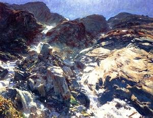 Reproduction oil paintings - Sargent - Glacier Streams