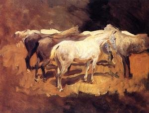 Reproduction oil paintings - Sargent - Horses At Palma