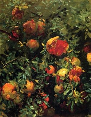 Famous paintings of Fruits: Pomegranates