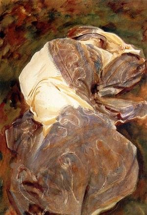 Reproduction oil paintings - Sargent - Reclining Figure