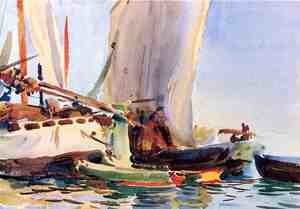 Famous paintings of Ships & Boats: Giudecca