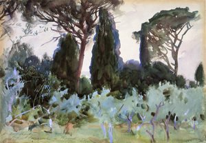 Reproduction oil paintings - Sargent - Landscape Near Florence