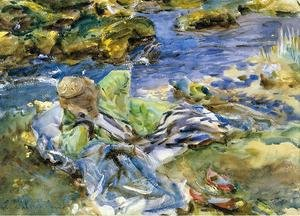 Reproduction oil paintings - Sargent - Turkish Woman By A Stream