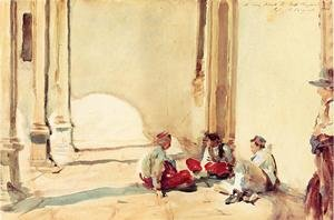 Reproduction oil paintings - Sargent - A Spanish Barracks