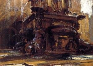 Reproduction oil paintings - Sargent - Fountain At Bologna