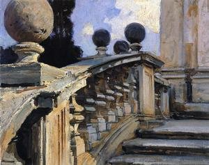 Famous Paintings in Ashmolean Museum, Oxford, UK: The Steps Of The Church Of S  S  Domenico E Siste In Rome