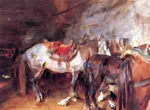 Reproduction oil paintings - Sargent - Arab Stable