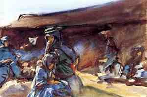 Reproduction oil paintings - Sargent - Black Tent