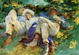 Reproduction oil paintings - Sargent - Siesta