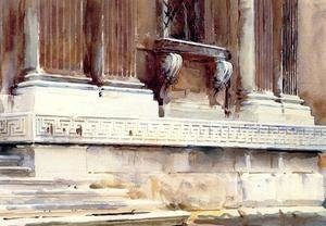 Reproduction oil paintings - Sargent - Base Of A Palace