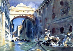 Famous paintings of Ships & Boats: Bridge Of Sighs