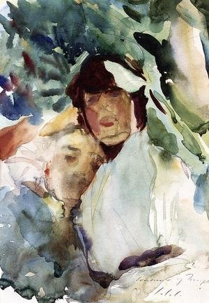 Reproduction oil paintings - Sargent - Ena Wertheimer With Antonio Mancini