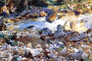 Reproduction oil paintings - Sargent - Mountain Stream