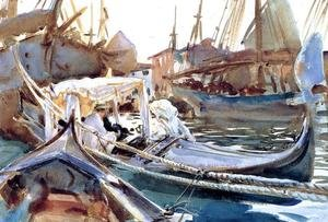 Famous paintings of Ships & Boats: Sketching On The Giudecca