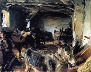 Reproduction oil paintings - Sargent - Stable At Cuenca