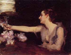Reproduction oil paintings - Sargent - Madame Gautreau Drinking A Toast