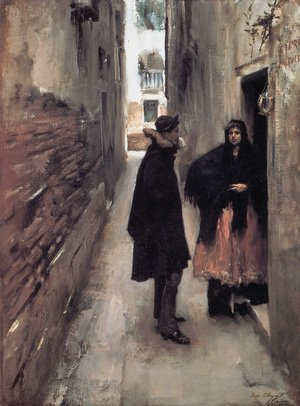 Reproduction oil paintings - Sargent - A Street In Venice