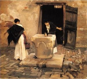 Reproduction oil paintings - Sargent - Venetian Water Carriers