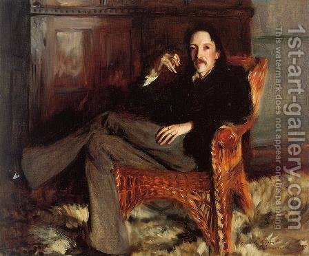 Robert Louis Stevenson by Sargent - Reproduction Oil Painting