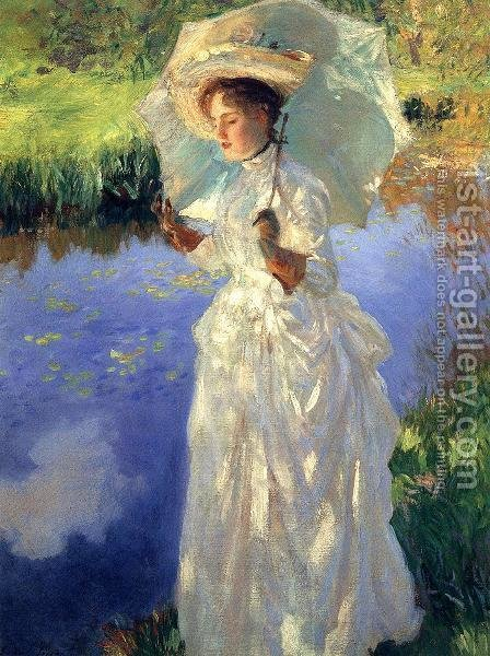 Sargent: A Morning Walk - reproduction oil painting
