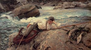 Reproduction oil paintings - Sargent - On His Holidays