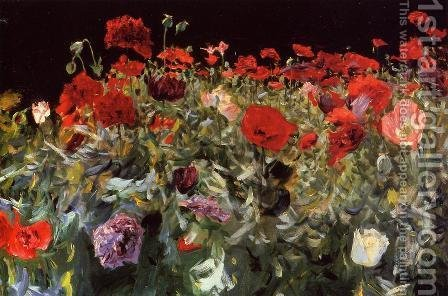 Sargent: Poppies - reproduction oil painting
