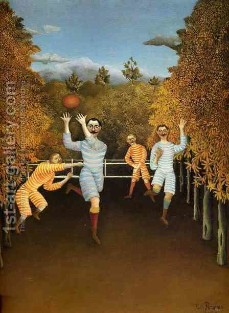 The Football Players by Henri Julien Rousseau - Reproduction Oil Painting