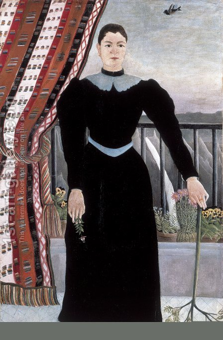 Portrait Of A Woman 1895 by Henri Julien Rousseau - Reproduction Oil Painting